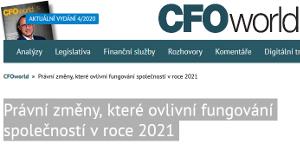 Článek v CFOworld